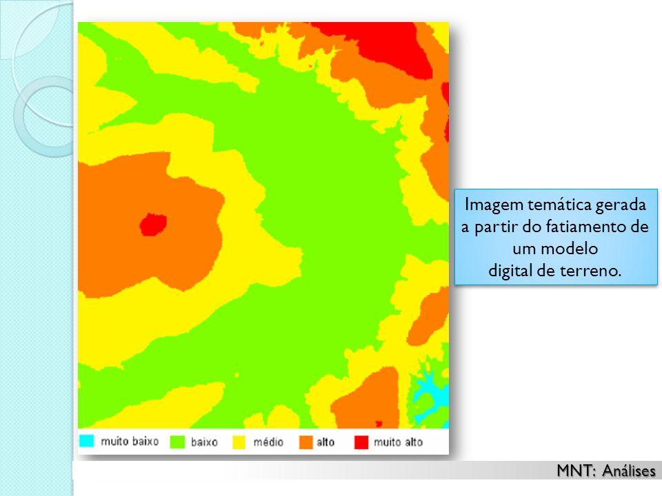 Imagem temática gerada a partir do fatiamento de um modelo digital de terreno. Imagem temática gerada a partir do fatiamento de um modelo digital de t
