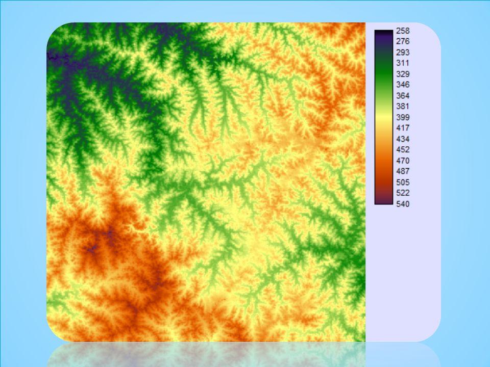 Modelo de grade regular representado como uma imagem sombreada.
