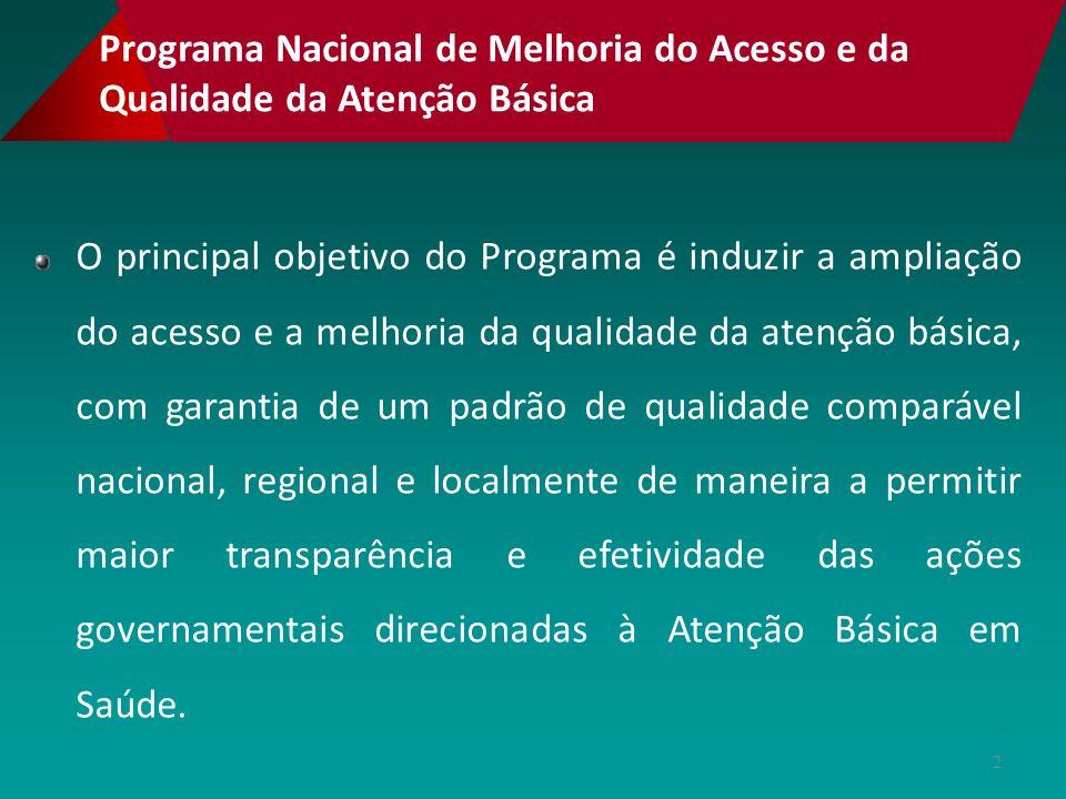 Base legal PT 1.654 de 19 de julho de 2011 – institui o Programa Nacional de Melhoria do Acesso e da Qualidade na Atenção Básica (PMAQ) e o Incentivo Financeiro do PMAQ-AB denominado Piso de Qualidade do PAB variável.