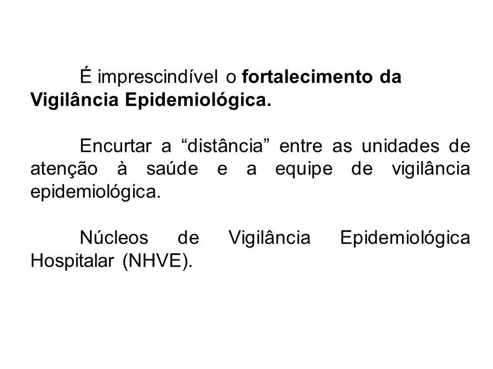 É imprescindível o fortalecimento da Vigilância Epidemiológica. Encurtar a distância entre as unidades de atenção à saúde e a equipe de vigilância epi