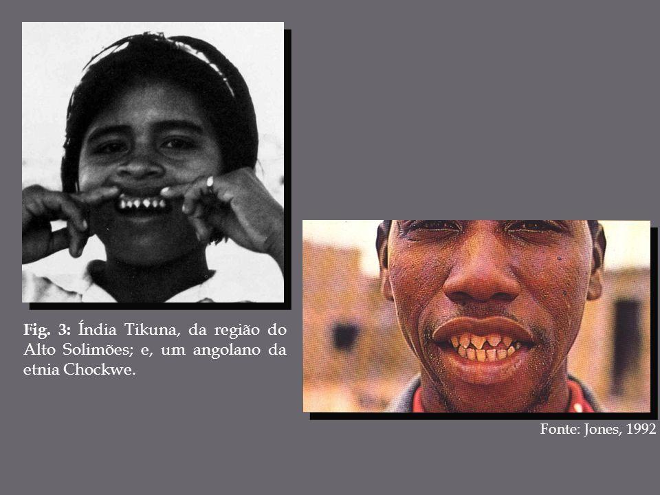 Fig. 3: Índia Tikuna, da região do Alto Solimões; e, um angolano da etnia Chockwe. Fonte: Jones, 1992