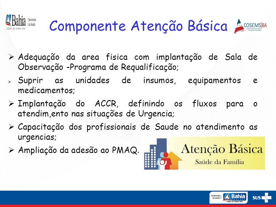 SAMU REGIONAL ILHÉUS -VALENÇA Valença: Ampliação do número de bases descentralizadas (Maraú, Teolândia e Piraí do Norte); Ambulancha Básica em Maraú e Cairu.