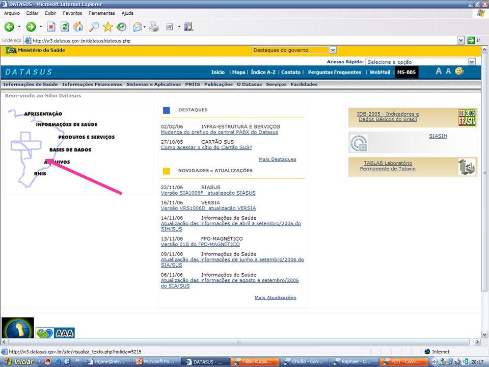 Decompactar e instalar Tabwin Entrar no Windows Explorer entrar na pasta do Tabwin clicar duplamente no ícone do Tab34.zip.
