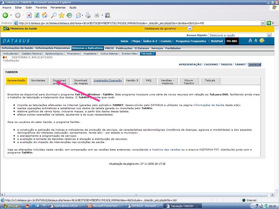 Criar associação dos arquivos.TAB com o Tabwin abrir com o programa no duplo click