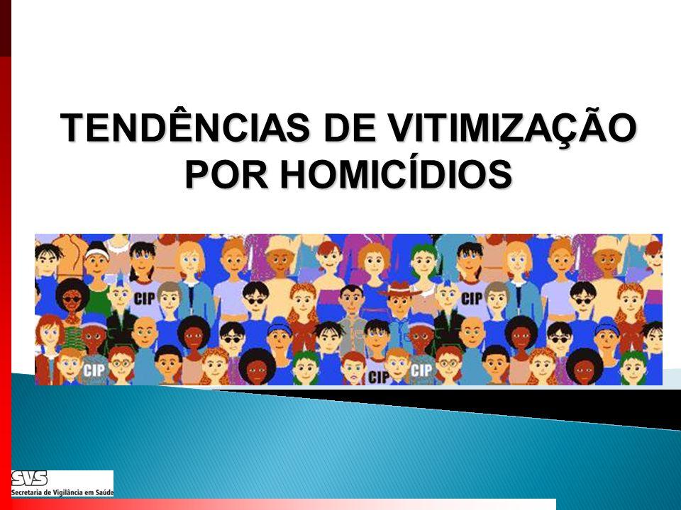 TENDÊNCIAS DE VITIMIZAÇÃO POR HOMICÍDIOS