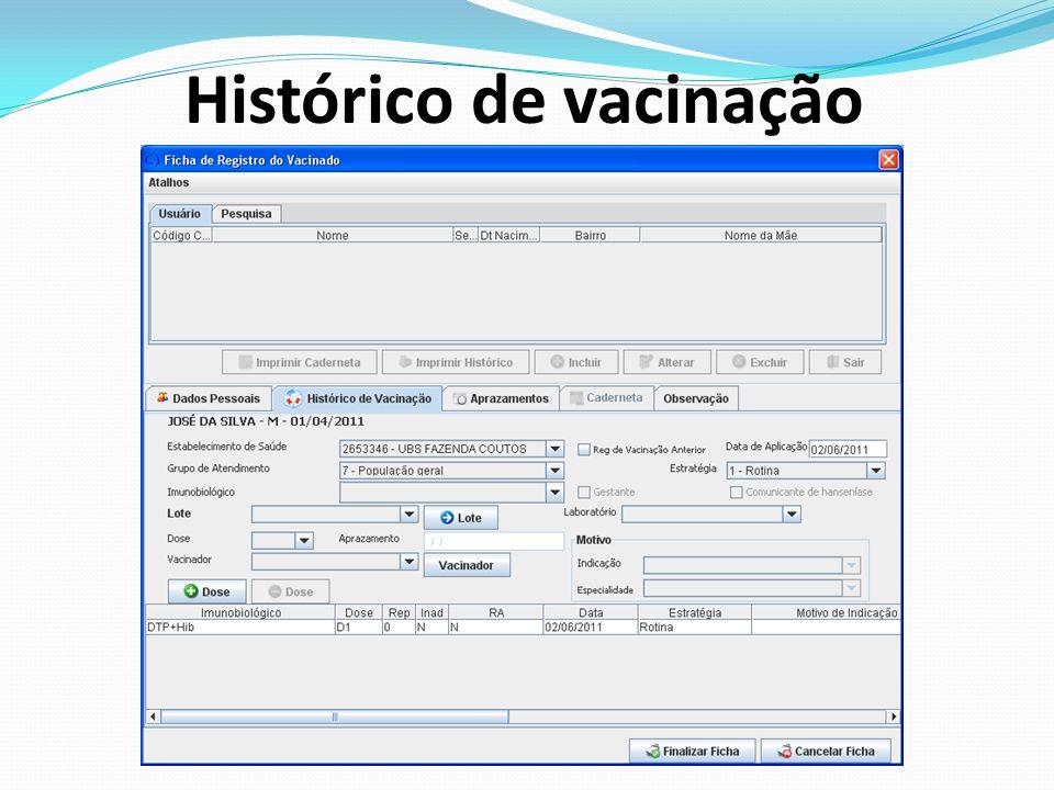Histórico de vacinação