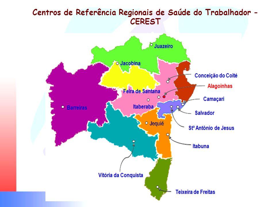 Centros de Referência Regionais de Saúde do Trabalhador - CEREST
