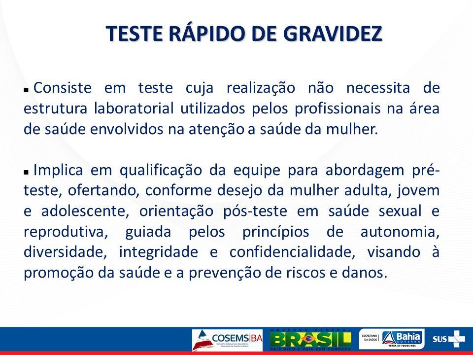 Consiste em teste cuja realização não necessita de estrutura laboratorial utilizados pelos profissionais na área de saúde envolvidos na atenção a saúd