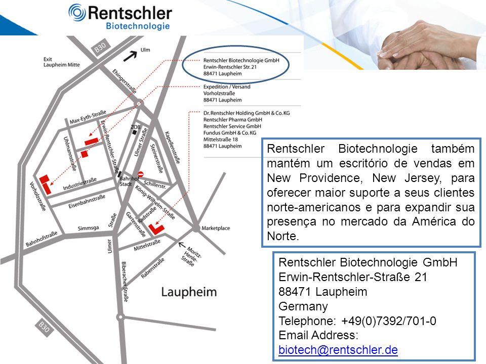Rentschler Biotechnologie GmbH Erwin-Rentschler-Straße 21 88471 Laupheim Germany Telephone: +49(0)7392/701-0 Email Address: biotech@rentschler.de biot