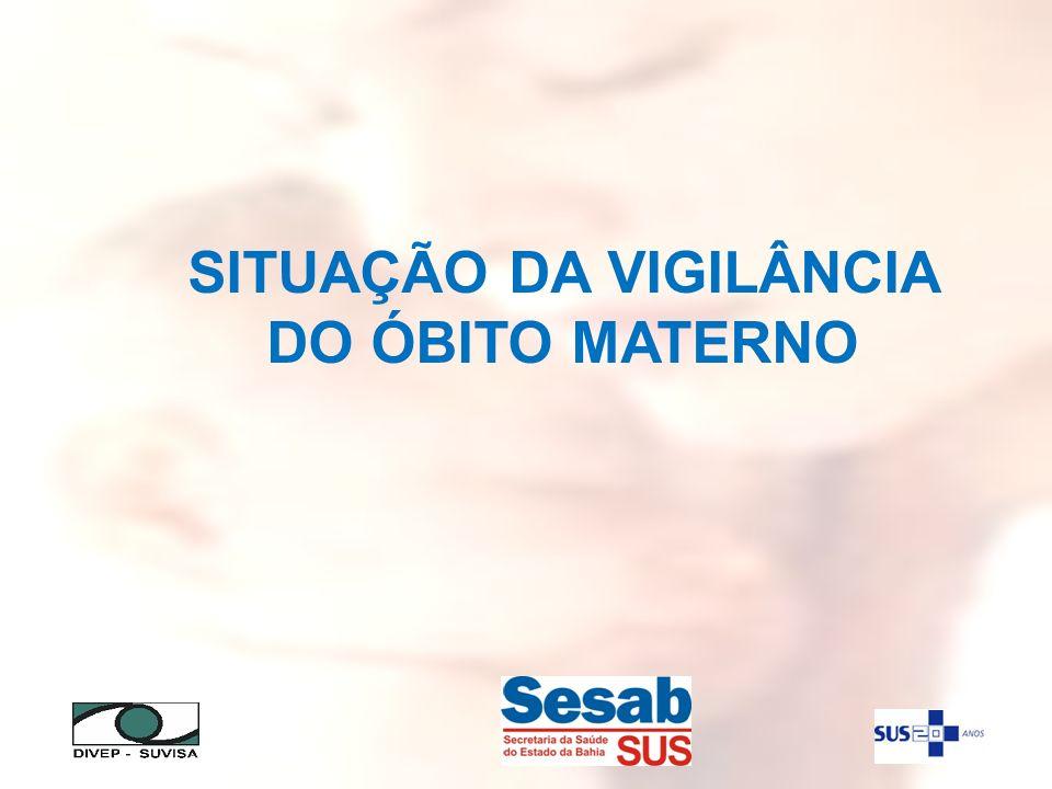 SITUAÇÃO DA VIGILÂNCIA DO ÓBITO MATERNO