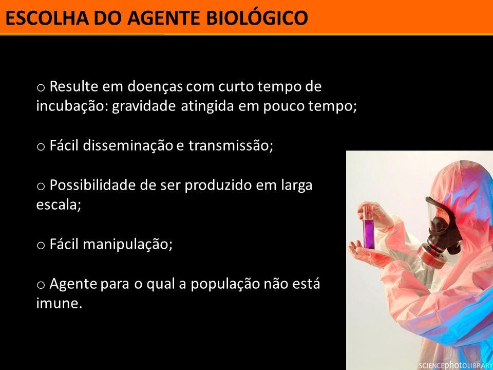 REFERÊNCIAS SILVA, L.J. Guerra biológica, bioterrorismo e saúde pública.
