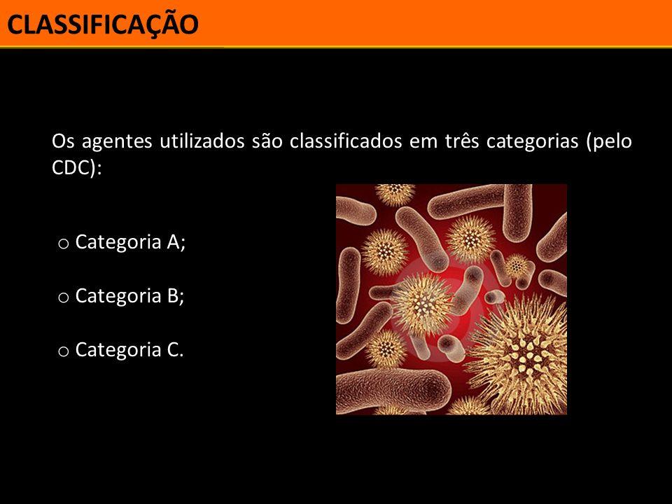 CLASSIFICAÇÃO CATEGORIA A Inclui os agentes que apresentam altas taxas de mortalidade.
