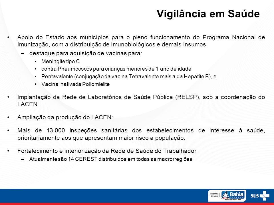 Vigilância em Saúde Apoio do Estado aos municípios para o pleno funcionamento do Programa Nacional de Imunização, com a distribuição de Imunobiológico