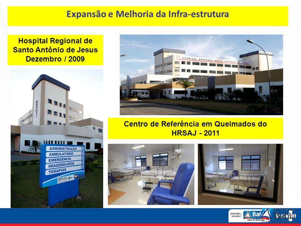Hospital Regional de Santo Antônio de Jesus Dezembro / 2009 Centro de Referência em Queimados do HRSAJ - 2011 Expansão e Melhoria da Infra-estrutura
