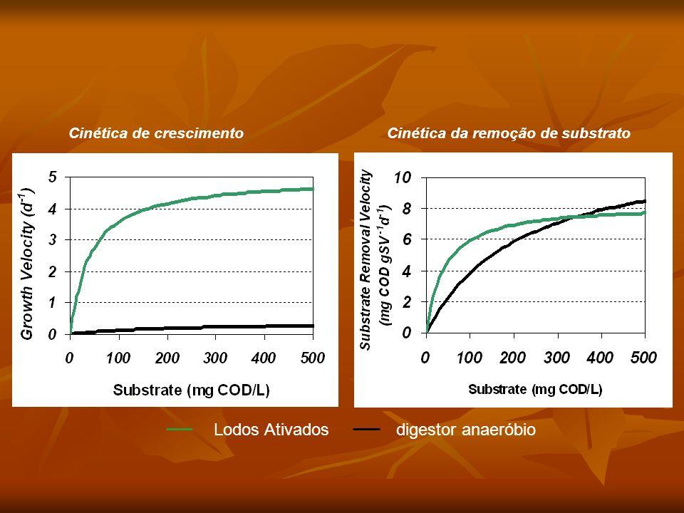 Cinética de crescimentoCinética da remoção de substrato Lodos Ativados digestor anaeróbio