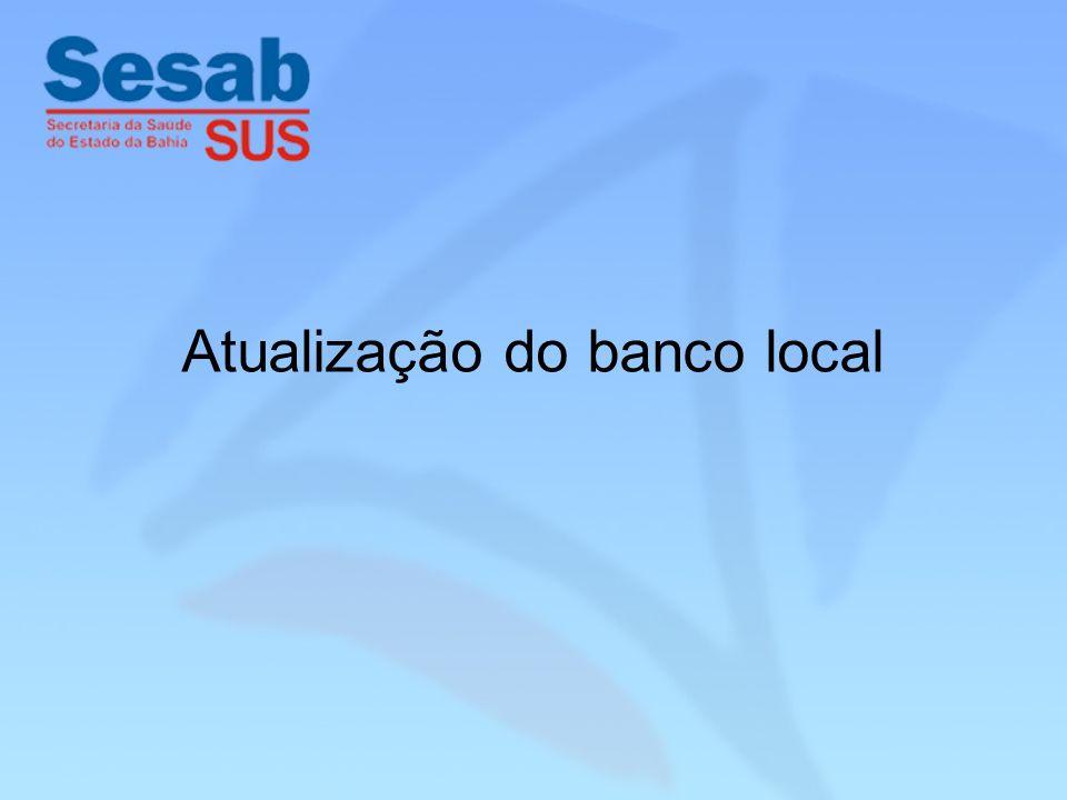 Atualização do banco local