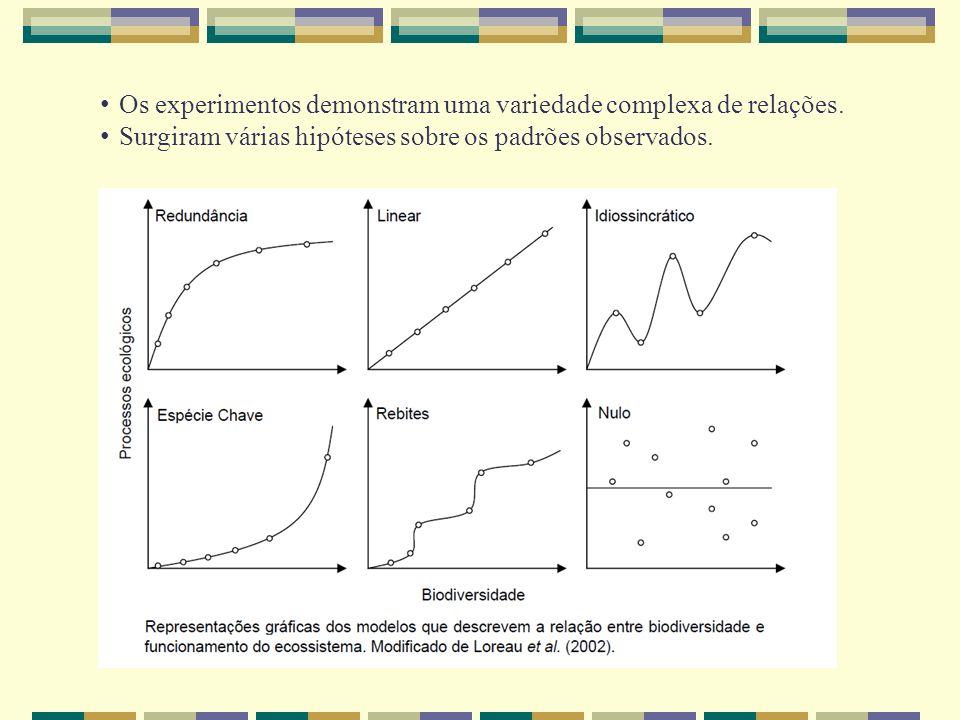 Os experimentos demonstram uma variedade complexa de relações. Surgiram várias hipóteses sobre os padrões observados.