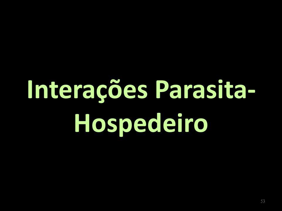 Interações Parasita- Hospedeiro 53