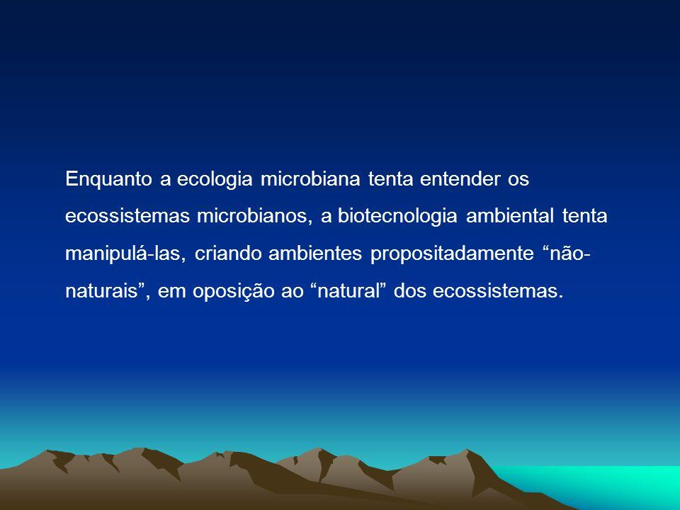 A biotecnologia ambiental pode incluir: Tratamento de resíduos a)tratamento de efluentes (remoção de matéria orgânica, N, P, S, metais) b)tratamento biológico de gás de combustão (remoção de odor, sulfeto, compostos aromáticos voláteis) c)biorremediação de solos (degradação das xenobióticos, petróleo, PAH, PCB) d)biocombustíveis e a produção de biogás a partir de resíduos orgânicos.
