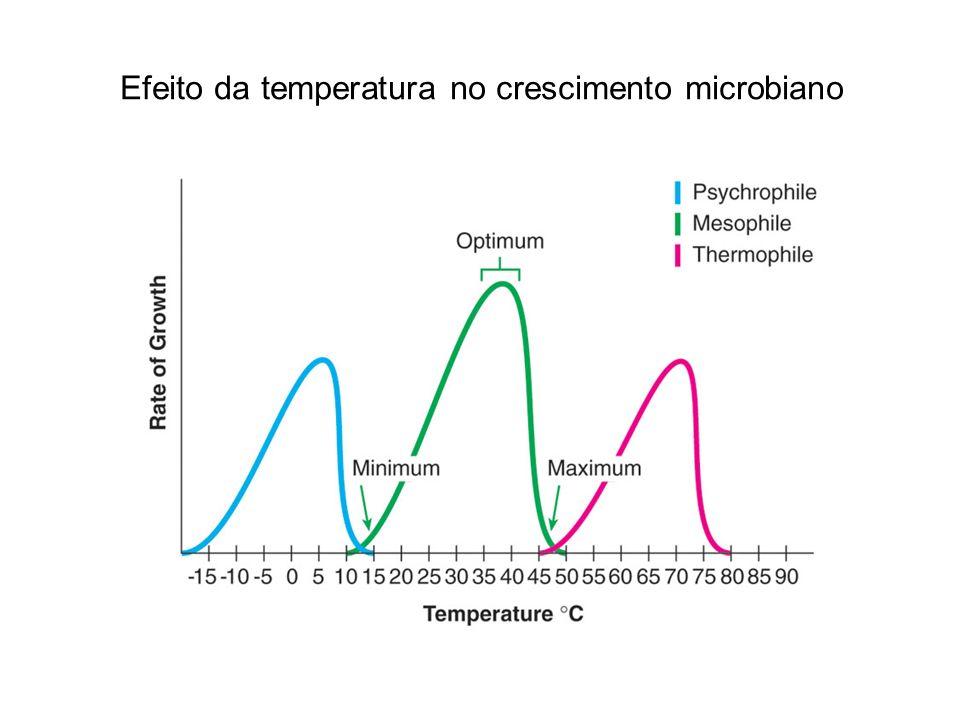 Efeito da temperatura no crescimento microbiano