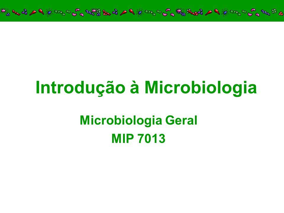 Introdução à Microbiologia Microbiologia Geral MIP 7013