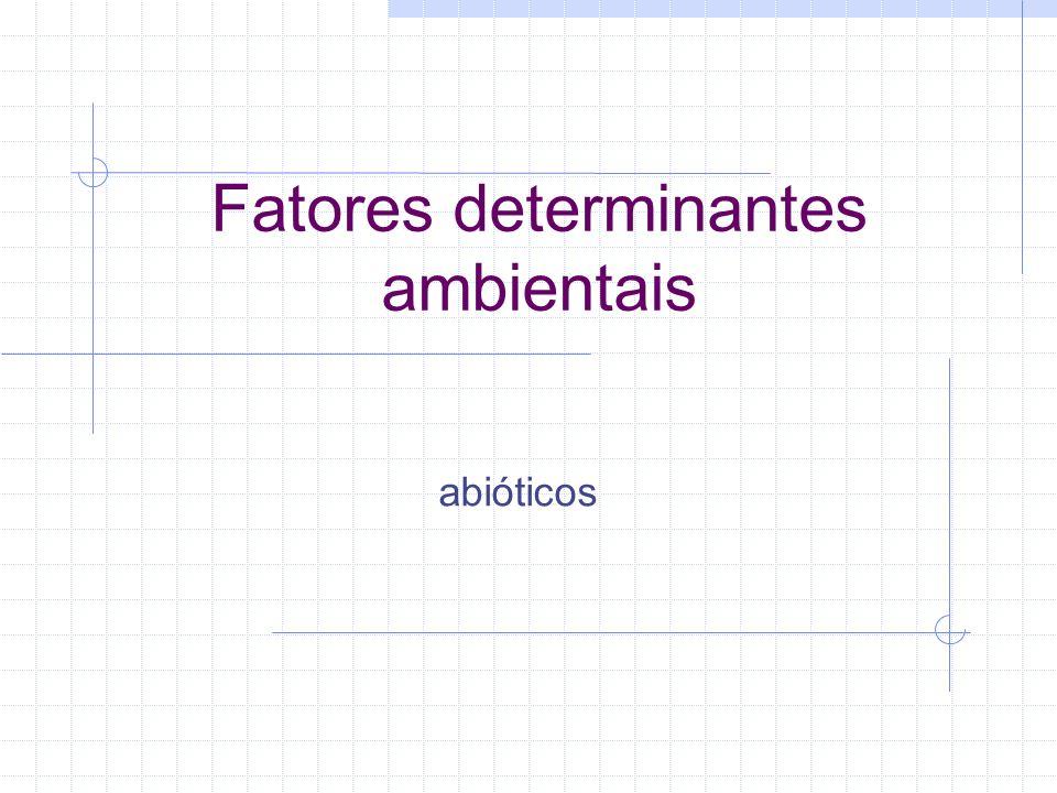 Fatores determinantes ambientais abióticos