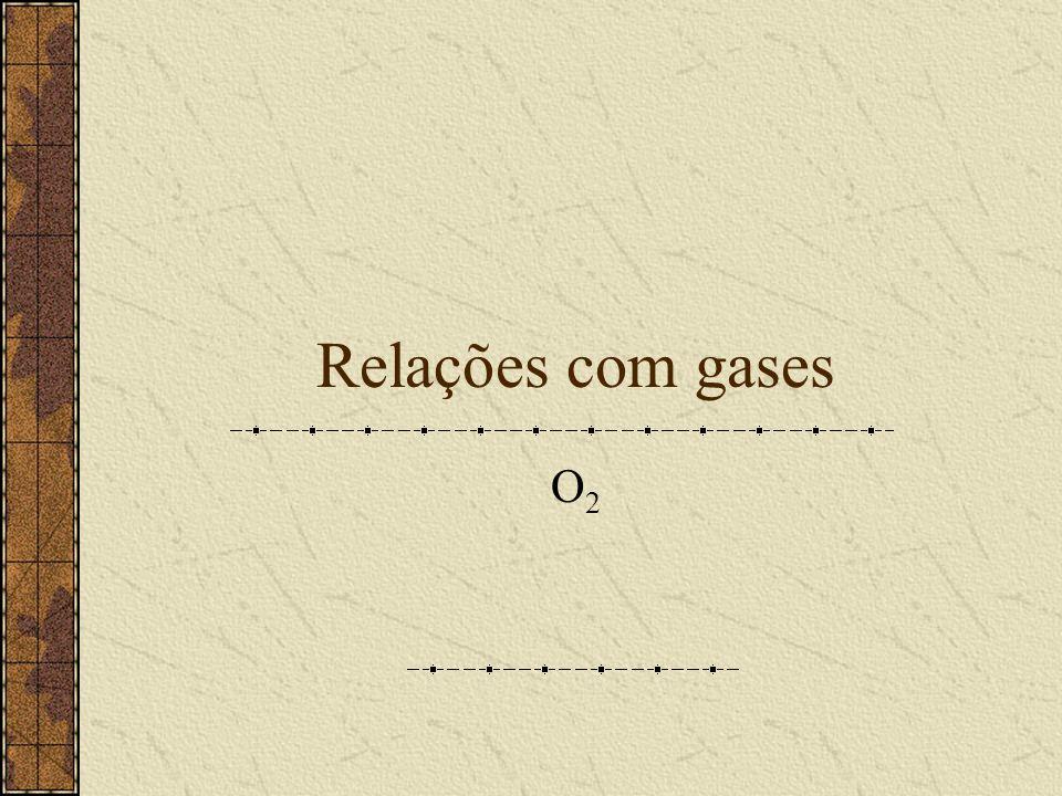 Relações com gases O2O2