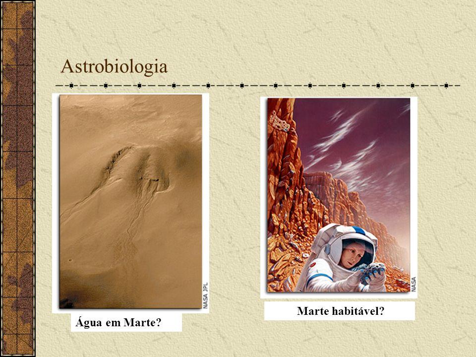 Astrobiologia Água em Marte? Marte habitável?