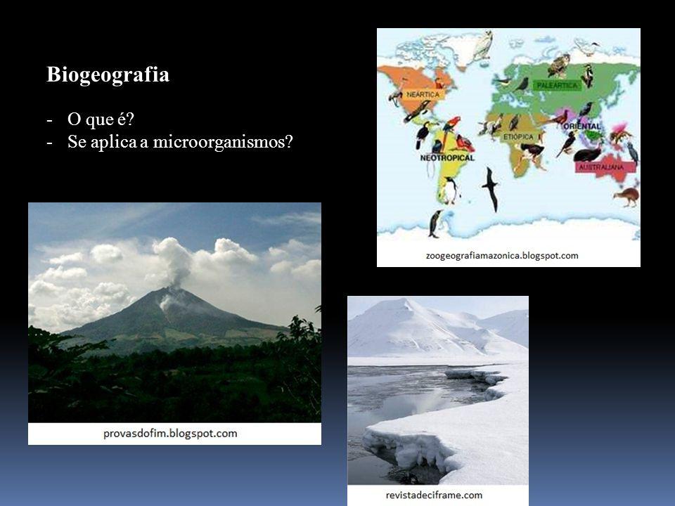 Biogeografia -O que é? -Se aplica a microorganismos?