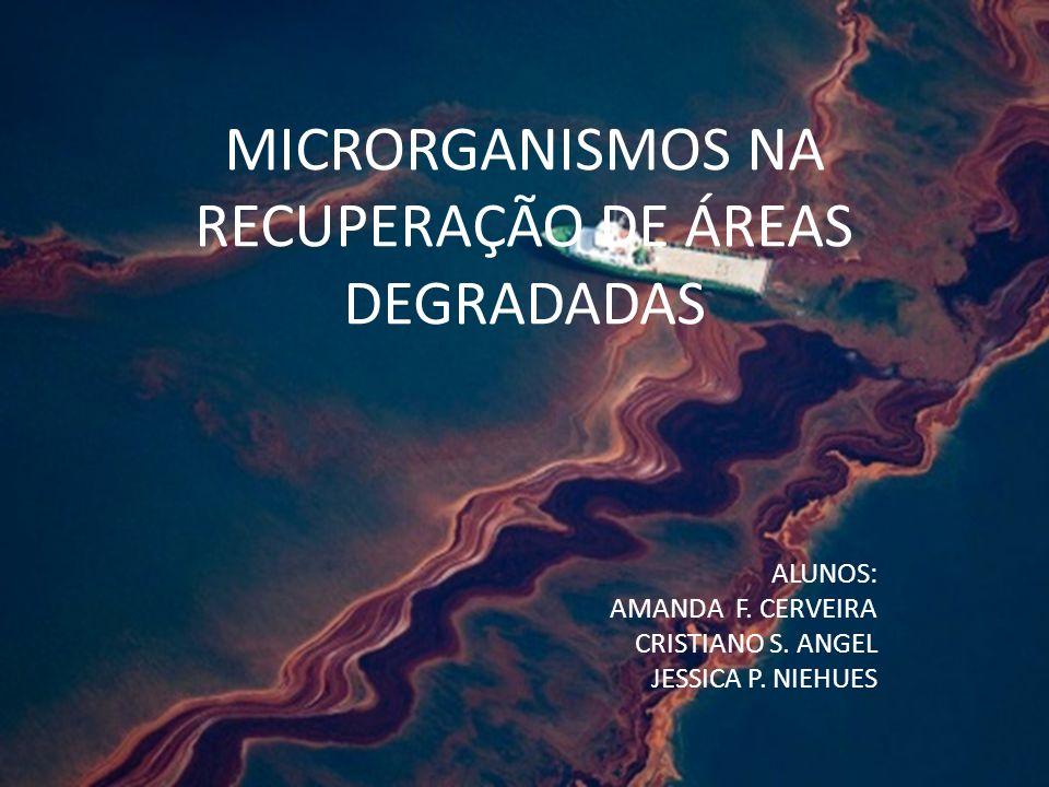 MICRORGANISMOS NA RECUPERAÇÃO DE ÁREAS DEGRADADAS ALUNOS: AMANDA F. CERVEIRA CRISTIANO S. ANGEL JESSICA P. NIEHUES