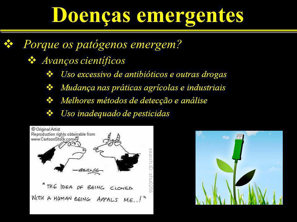 Doenças emergentes Porque os patógenos emergem.
