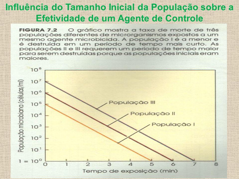 Influência do Tamanho Inicial da População sobre a Efetividade de um Agente de Controle