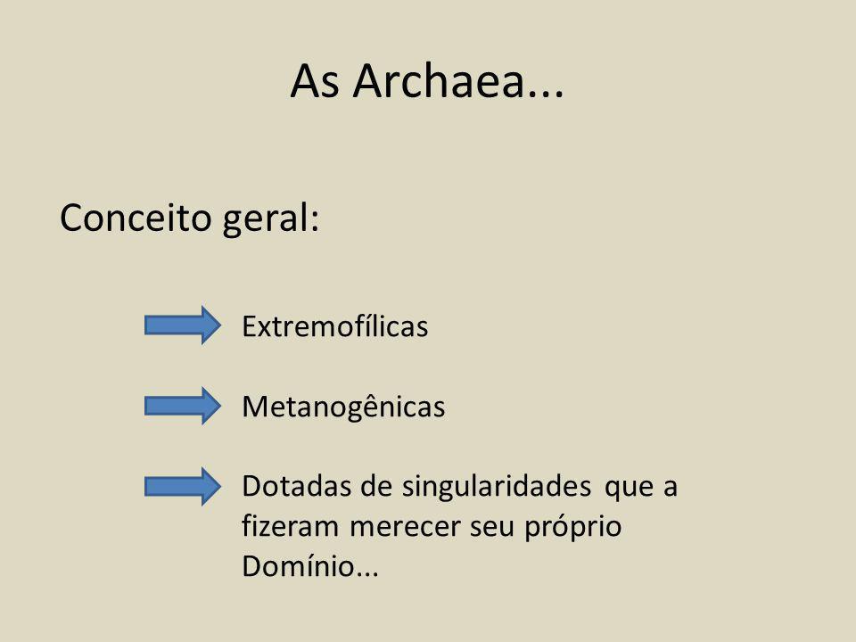 As Archaea...