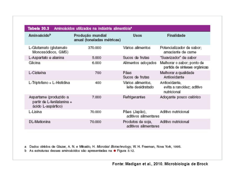 Fonte: Madigan et al., 2010. Microbiologia de Brock