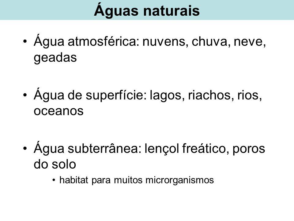 Microrganismos indicadores da qualidade da água –Espécies de bactérias utilizadas para indicar contaminação microbiana na água Qual é o indicador ideal.
