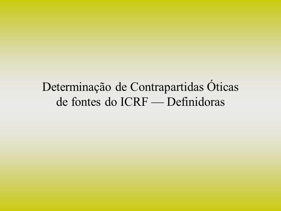 Determinação de Contrapartidas Óticas de fontes do ICRF Definidoras