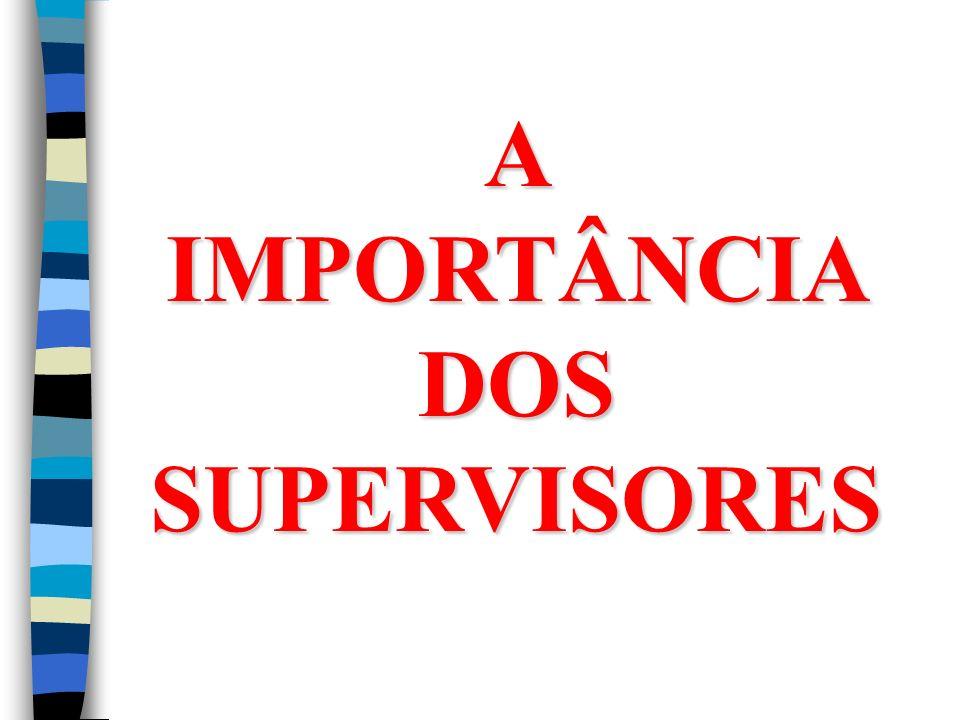 A IMPORTÂNCIA DOS SUPERVISORES