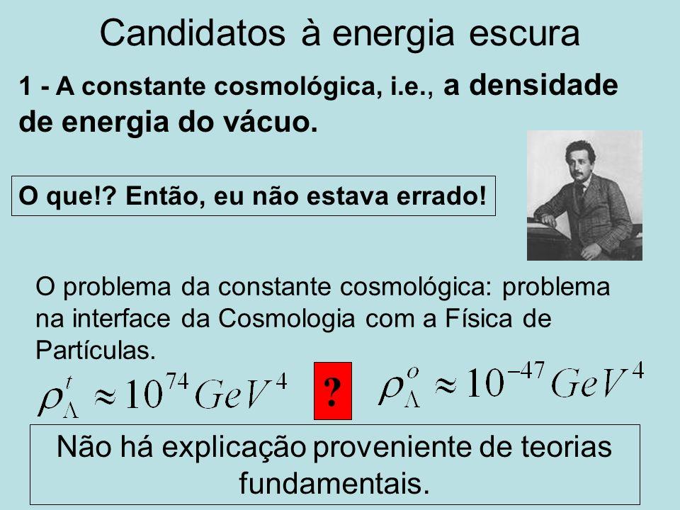 Candidatos à energia escura 1 - A constante cosmológica, i.e., a densidade de energia do vácuo. O que!? Então, eu não estava errado! O problema da con