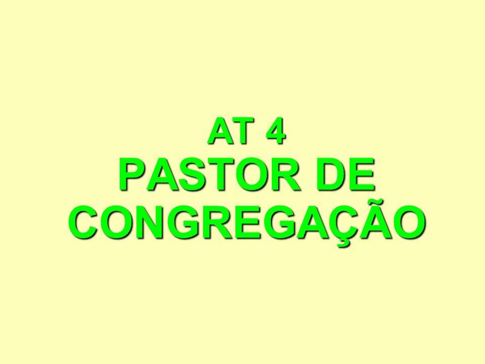 O PASTOR DE CONGREGAÇÃO COMO PASTOR 1.Deve ter chamado.