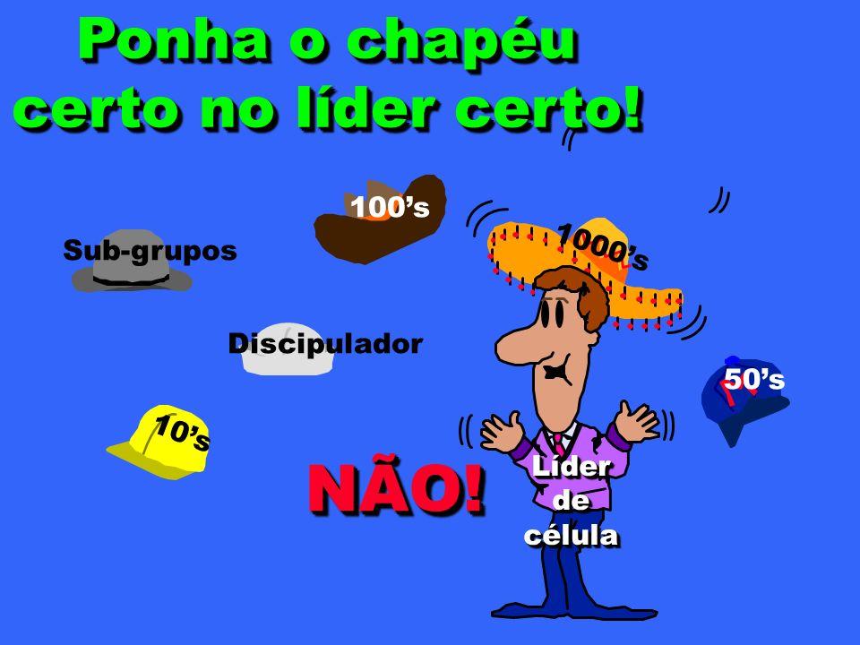 1000s 10s 50s 100s LíderdecélulaLíderdecélula NÃO!NÃO.