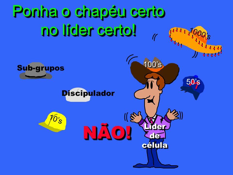 100s 10s 1000s 50s Discipulador Sub-grupos LíderdecélulaLíderdecélula NÃO!NÃO.