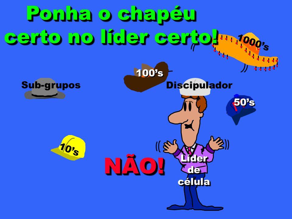10s 1000s 50s 100s Sub-grupos LíderdecélulaLíderdecélula NÃO!NÃO.