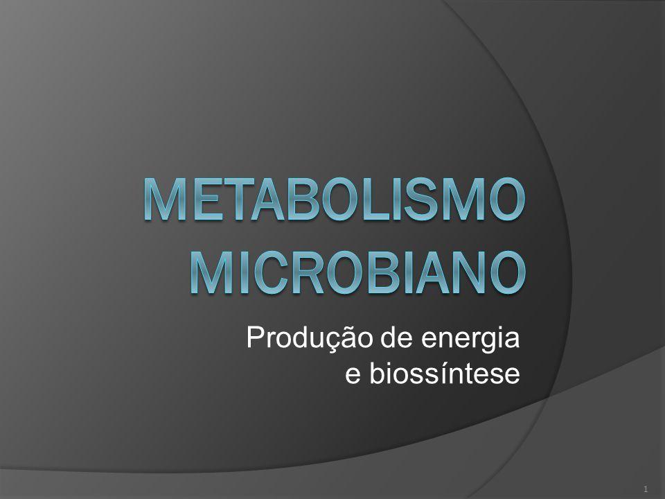 Produção de energia e biossíntese 1