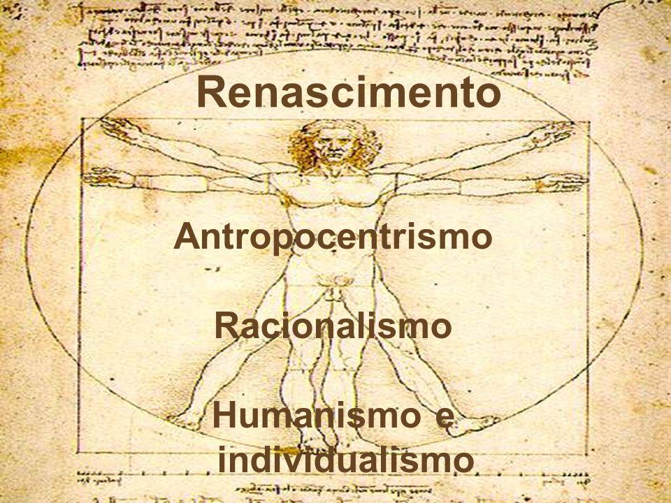Antropocentrismo Racionalismo Humanismo e individualismo