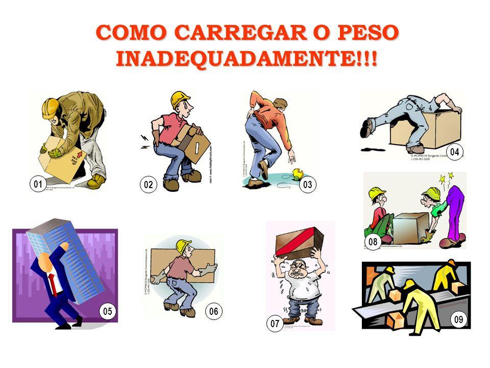 COMO CARREGAR O PESO INADEQUADAMENTE!!! 010203050409080607