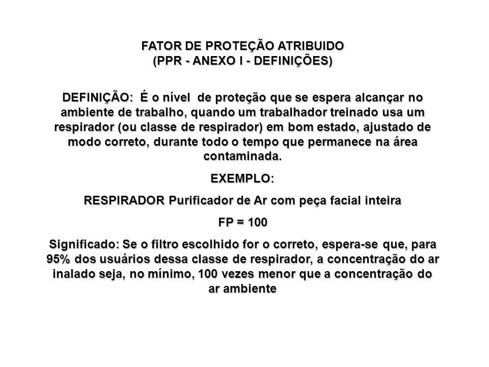 Referências bibliográficas (TB): NIOSH Guide to the Selection and Use of Particulate Respirators - 42CFR84, 1996 (http://www.cdc/niosh/respguid.html) OSHA 1910.134 - Respiratory Protection Standard, 1998 NBR 13698 da ABNT - Equipamentos de Proteção Respiratória: Peça Semifacial Filtrante para partículas Programa de Proteção Respiratória: Recomendações, Seleção e Uso de Respiradores.