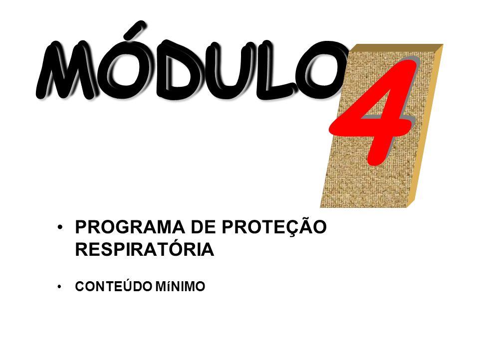 MÓDULO MÓDULO MÓDULO PROGRAMA DE PROTEÇÃO RESPIRATÓRIA CONTEÚDO MíNIMO 4 4