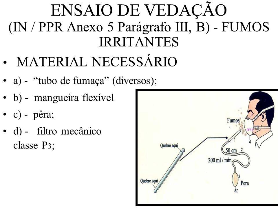 ENSAIO DE VEDAÇÃO (IN / PPR Anexo 5 Parágrafo II) - Sacarina b ENSAIO DE ACUIDADE DE PALADAR b capuz b 1 ml - solução paladar