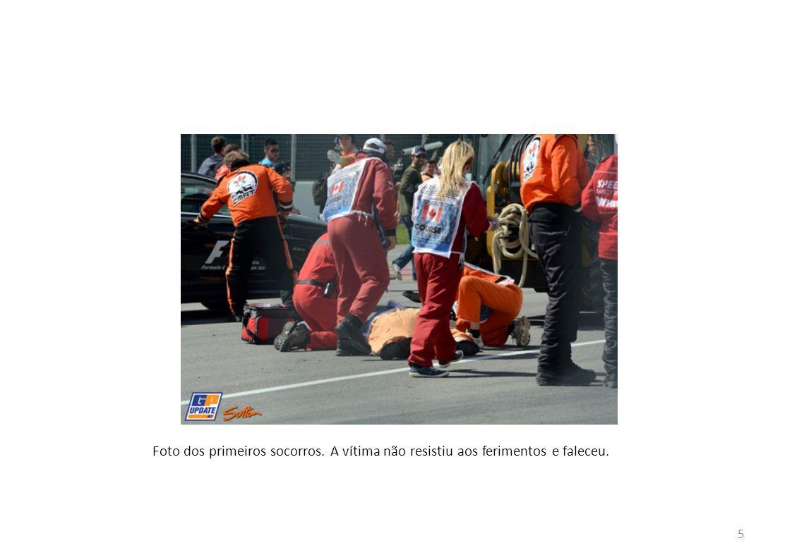5 Foto dos primeiros socorros. A vítima não resistiu aos ferimentos e faleceu.
