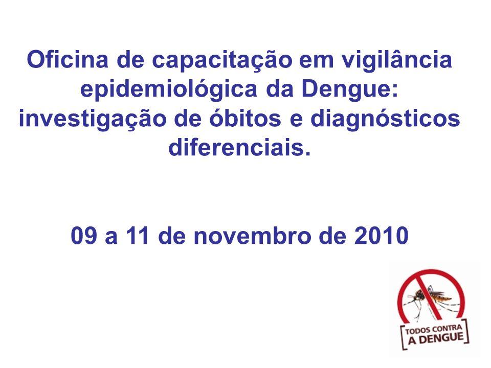 Oficina de capacitação em vigilância epidemiológica da Dengue: investigação de óbitos e diagnósticos diferenciais. 09 a 11 de novembro de 2010